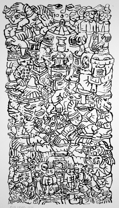 small size compact line ink drawings on paper eric g c weets